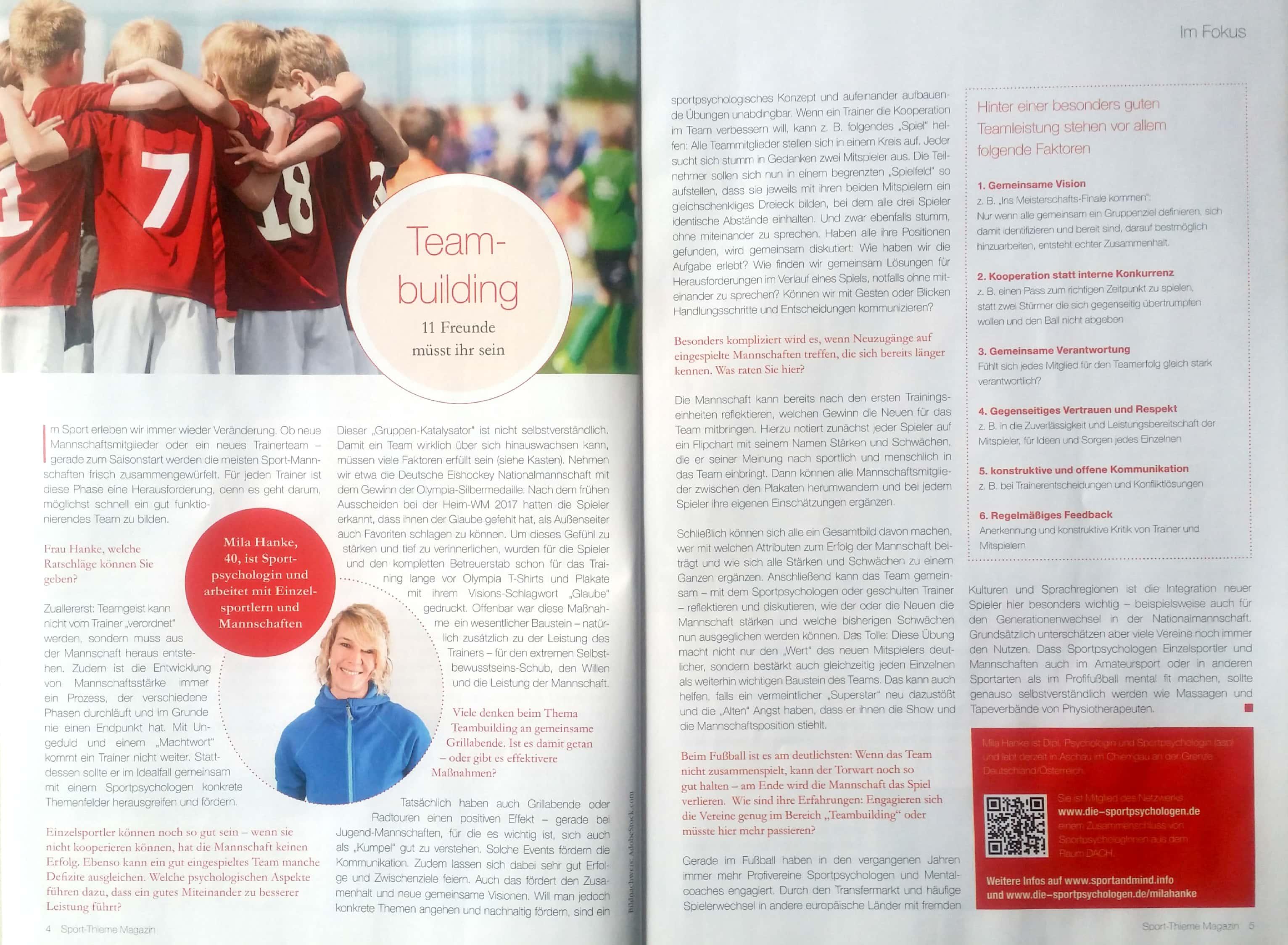 Mila Hanke: Von Fußball bis Eishockey – Teambuilding im
